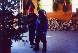 Chirstmas Tree Customers childern getting candy canes